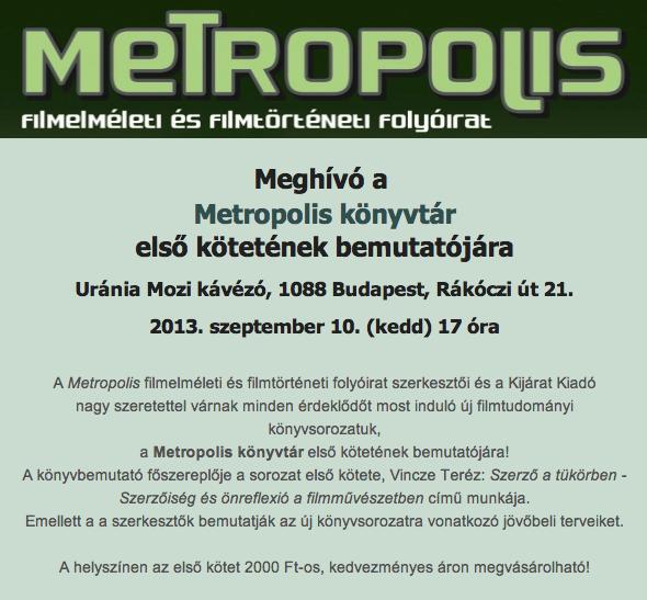 Metropolis konyvtar meghivo