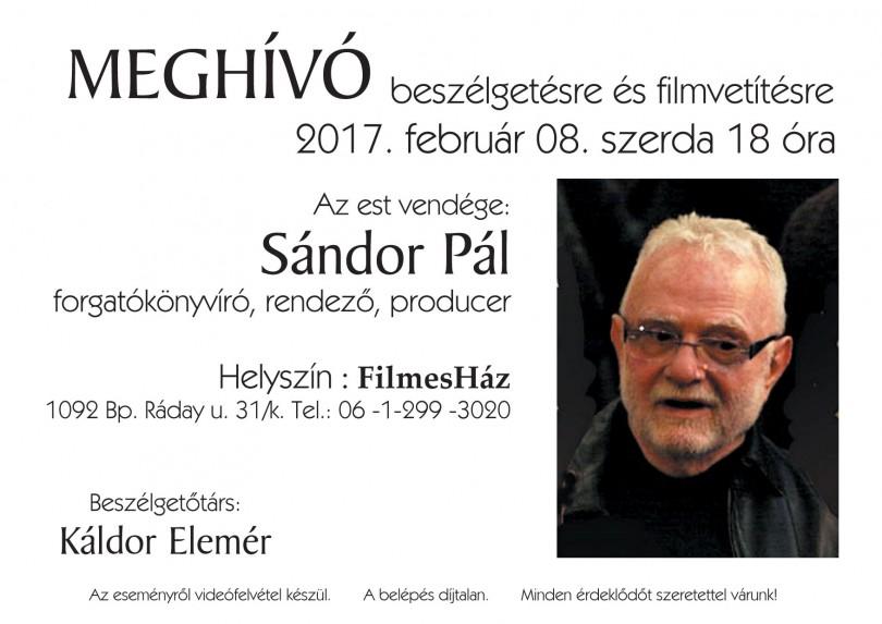 FH Meghivó_Sándor Pál estre